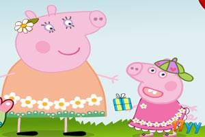 粉红小猪过母亲节