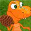 恐龙扔松子