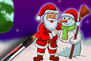 圣诞公公填颜色
