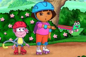 朵拉溜滑冰