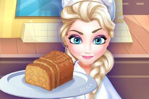 艾尔莎做素食肉饼