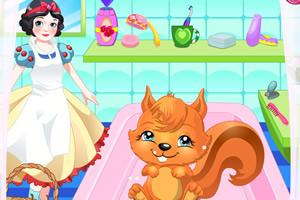 白雪公主照顾小松鼠