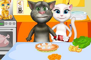 汤姆猫家族的晚餐