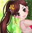 森林里的美丽女孩