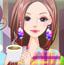 时尚咖啡女孩