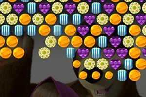 玛莎和熊糖果泡泡龙