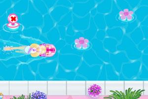 芭比学游泳