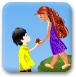 给女友送花