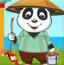 小熊猫学钓鱼