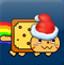 圣诞节霓虹猫
