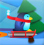 小企鹅玩滑雪