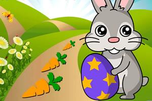 复活节兔子胡萝卜大收