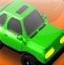 疯狂路障绿色小车
