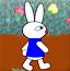 可爱小兔偷食物