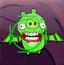射击愤怒的绿猪