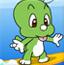 恐龙宝宝冲浪