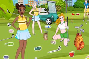 打扫高尔夫球场