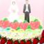 设计新婚爱情蛋糕