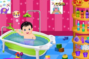 给宝宝洗澡