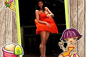 美女系列之吹裙子
