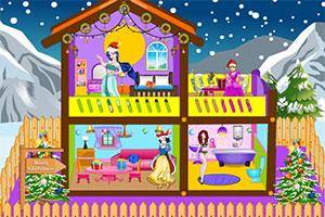 公主的圣诞娃娃屋