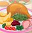 感恩节烤鸡大餐