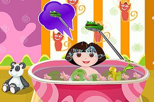 朵拉爱洗澡