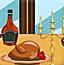 感恩节餐厅装饰