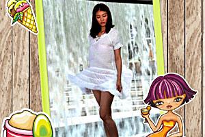美女系列之吹裙子三