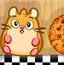 小仓鼠吃饼干