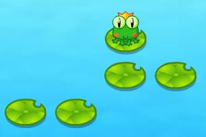 青蛙王子跳荷叶图片