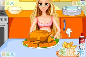 怀孕长发公主做晚餐